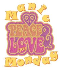 Manic Monday - 70's Logo peace and love